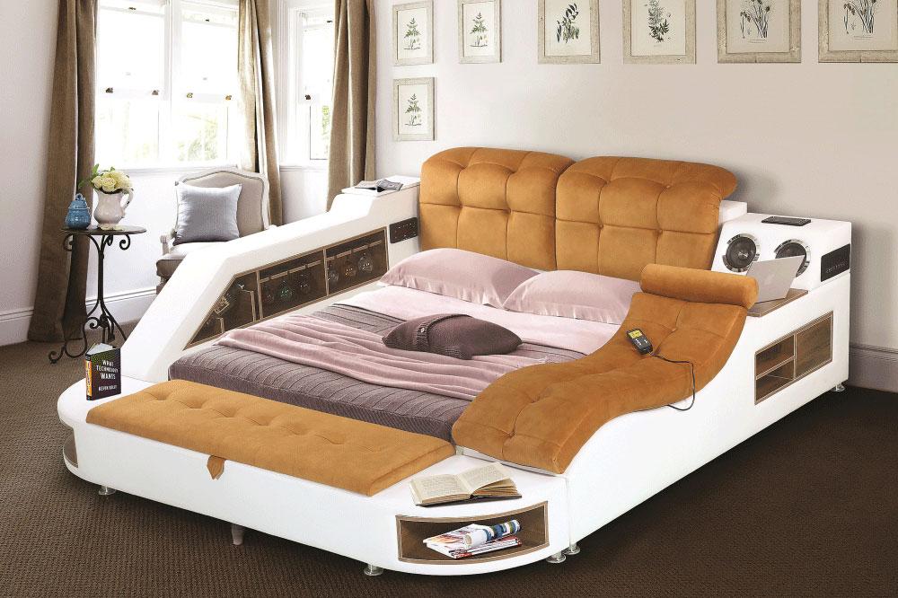 تخت خواب دونفره جا دار