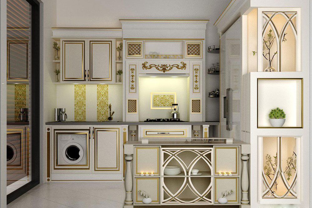 مدل کابینت آشپزخانه ایرانی با ممبران