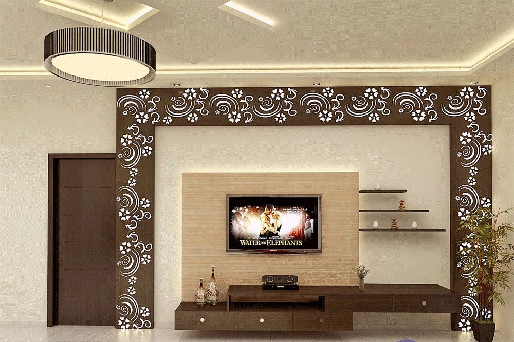میز تلویزیون دیواری ام دی اف با طراحی های چشم نواز