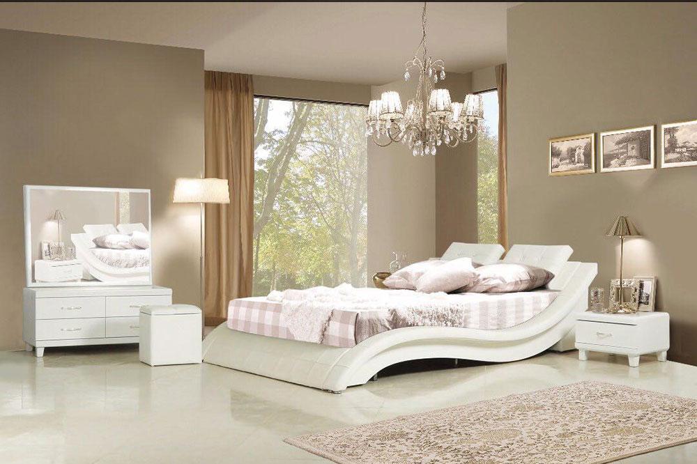 مدل تخت خواب عروس و داماد مواج