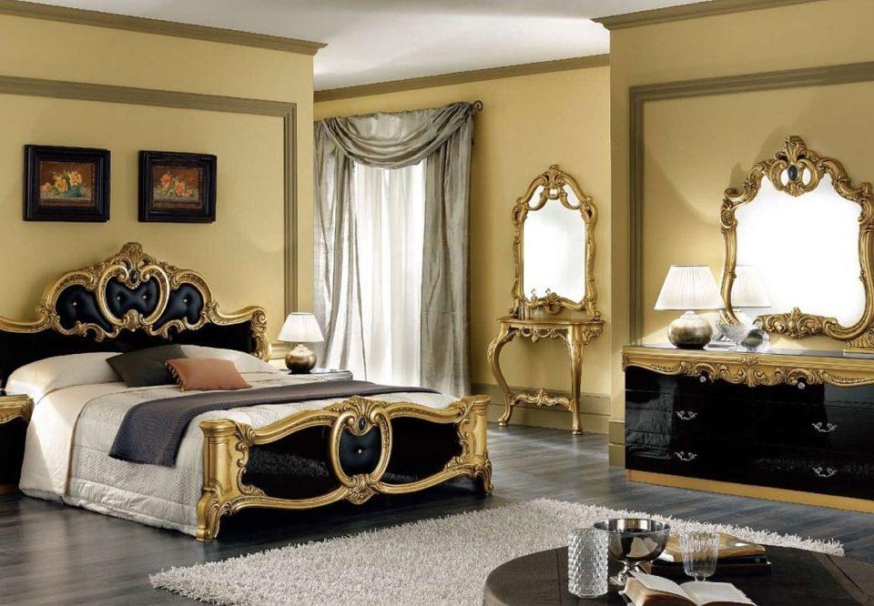 مدل سرویس خواب سفید طلایی