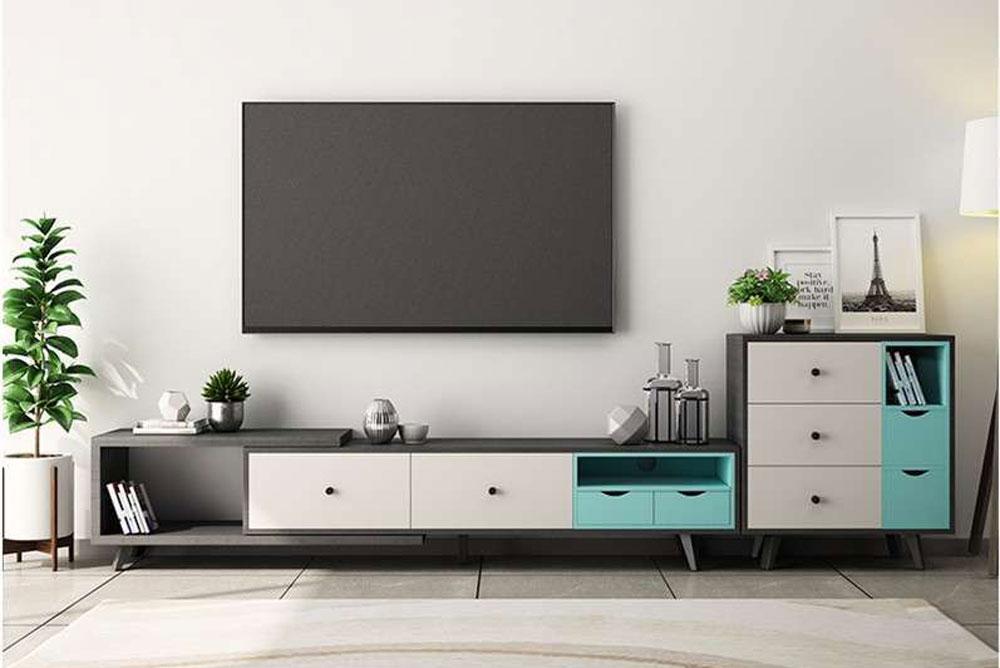 میز تلویزیون دیواری مدرن کمد دار