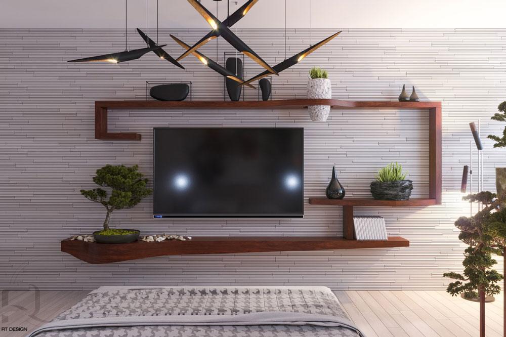 6 مدل خلاقانه میز تلویزیون دیواری برای خانه کوچک شما