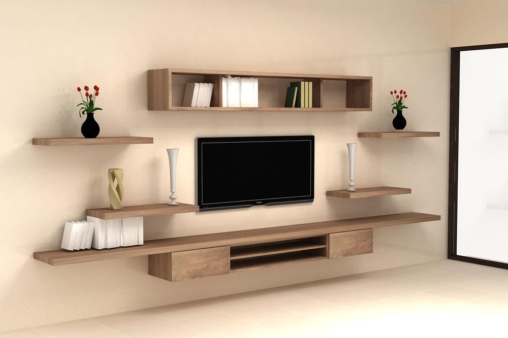 میز تلویزیون دیواری مدرن بزرگ
