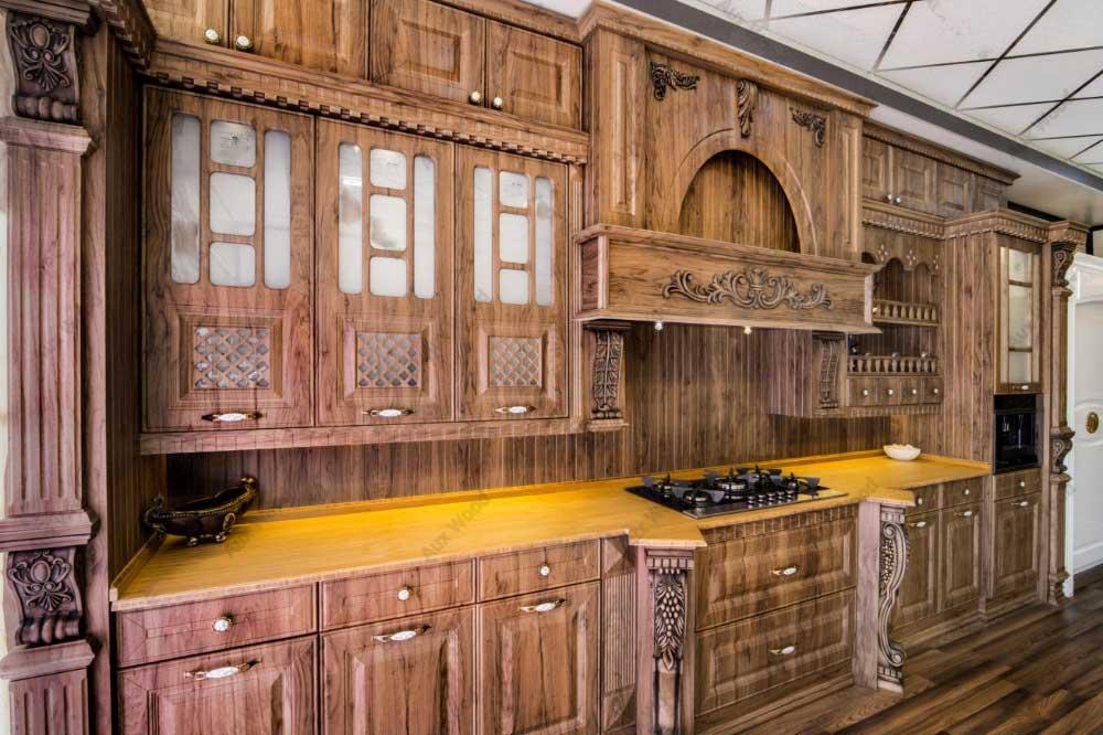 انولع مدل های دکوراسیون چوبی آشپزخانه