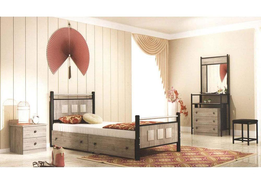 مدل تخت خواب فلزی و چوبی