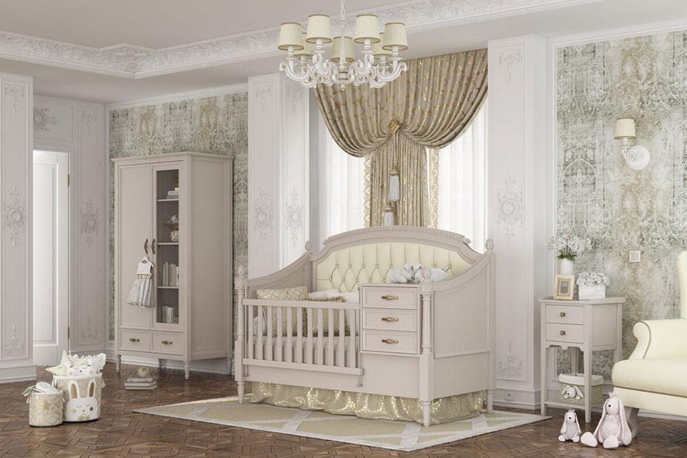 تخت نوزاد مبله و کلاسیک