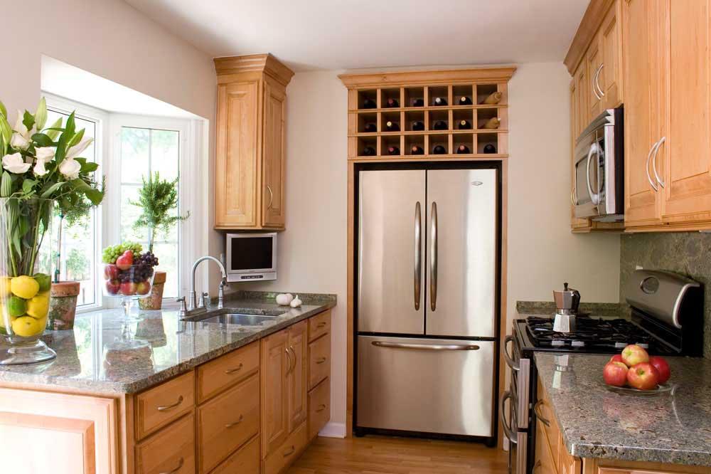 استفاده بهینه از فضا در آشپزخانه های کوچک