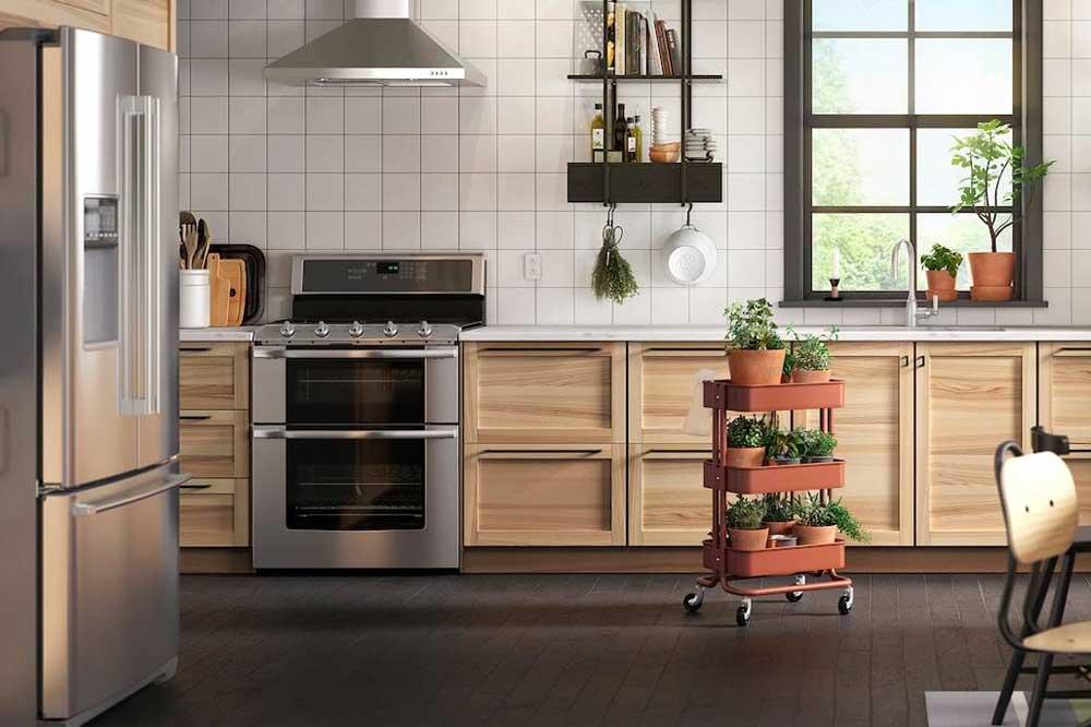 جدیدترین مدل کابینت آشپزخانه با حذف کابینت های دیواری