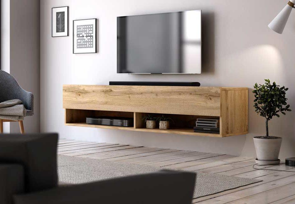 میز تلویزیون دیواری ساده، نمادی از دنیای مهیج مدرنیته