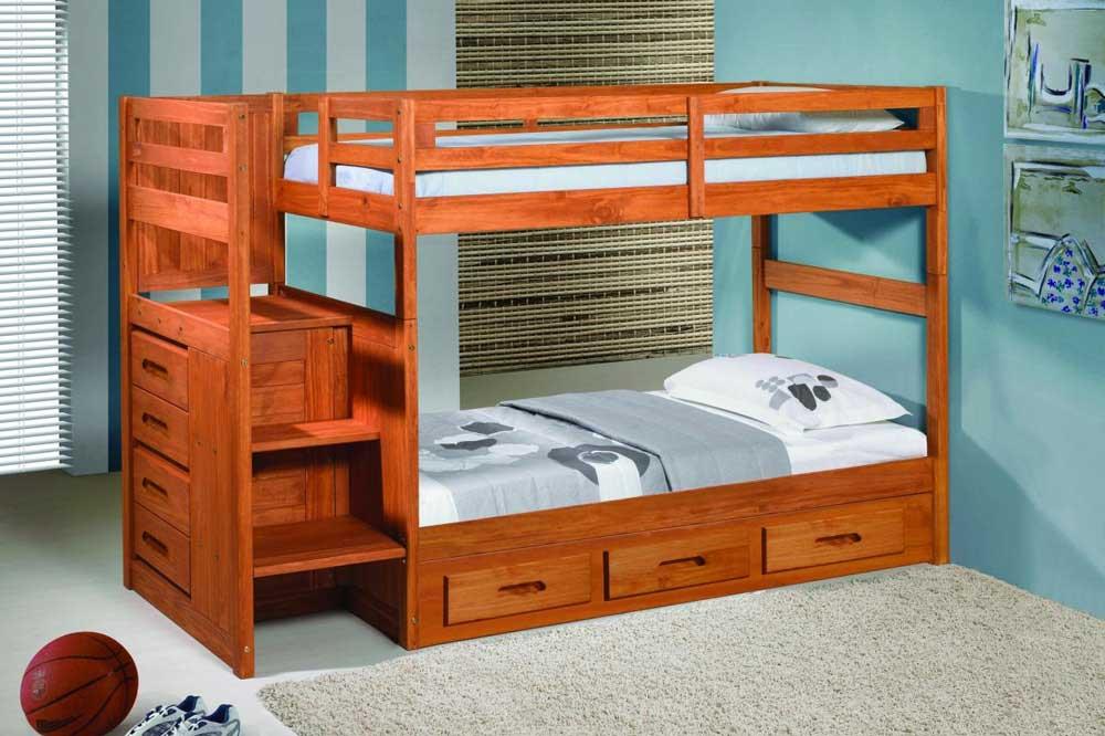 تخت خواب دو طبقه یک ایده مناسب و زیبا برای کودکان دو قلو