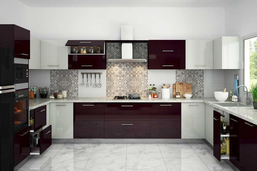 بازی با رنگ ها در طرح های کابینت آشپزخانه