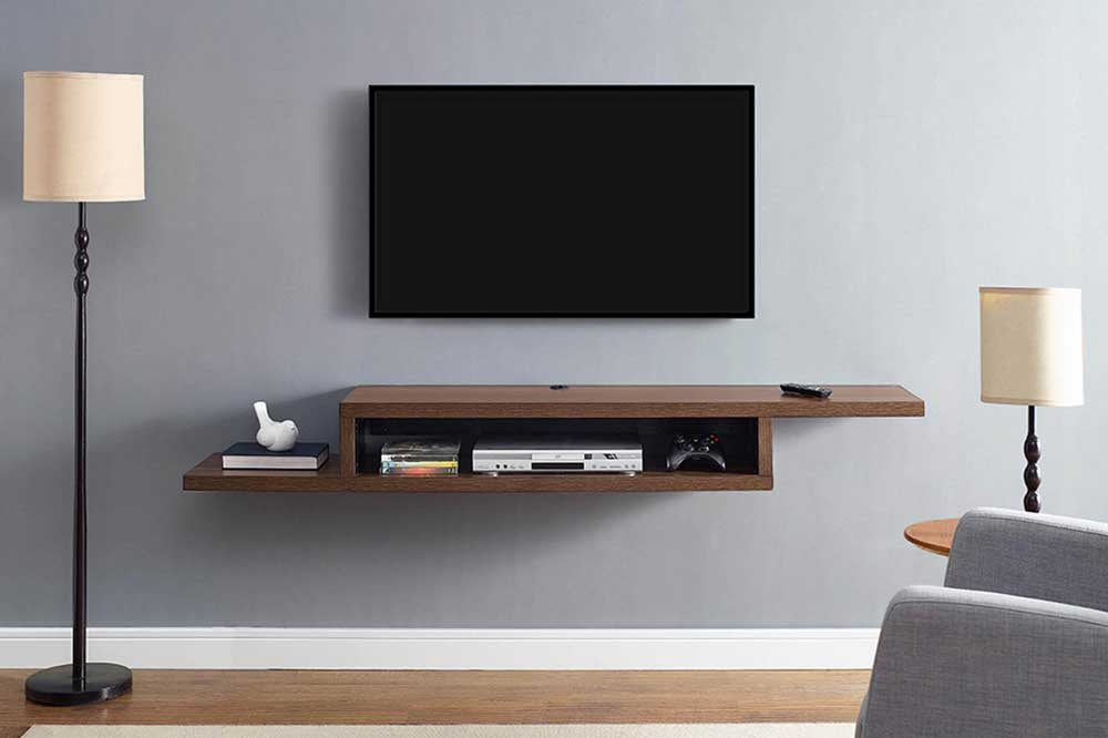 حالت رفت و برگشتی ایده ای برای یک میز تلویزیون ساده و شیک