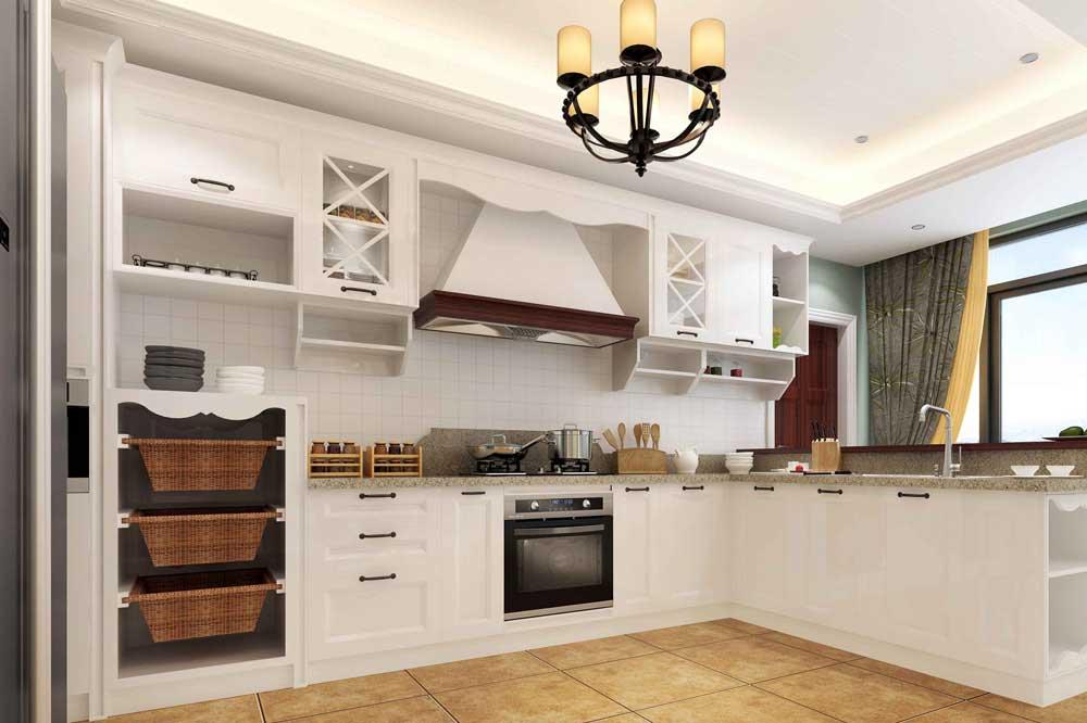 تزئین یکی از طرح های کابینت آشپزخانه جدید با اکسسوری ها