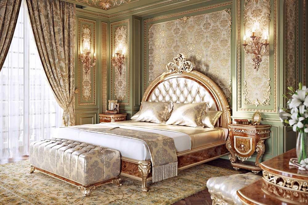 پاف و پشتی نرم در بسیاری از تختخواب های کلاسیک