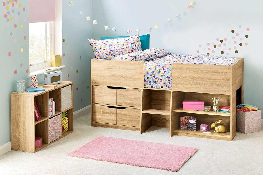 یک مدل تخت خواب کودک زیبا و مرتفع
