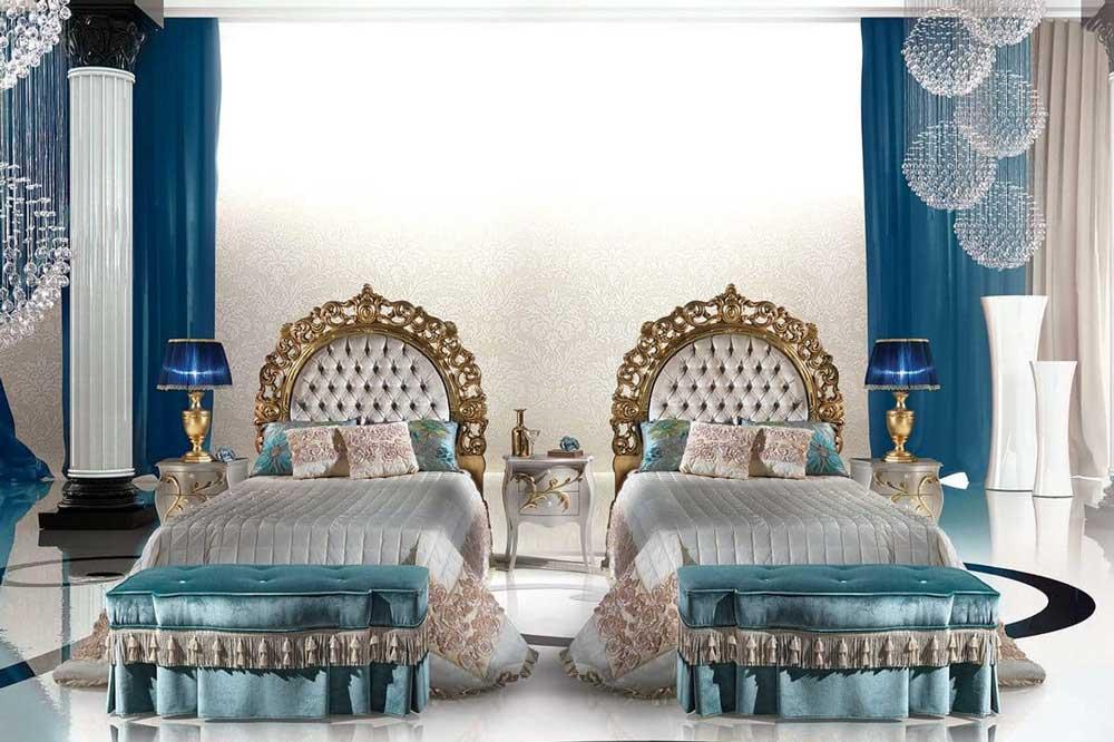 تخت خواب های کلاسیک تک نفره، زیبا و با شکوه