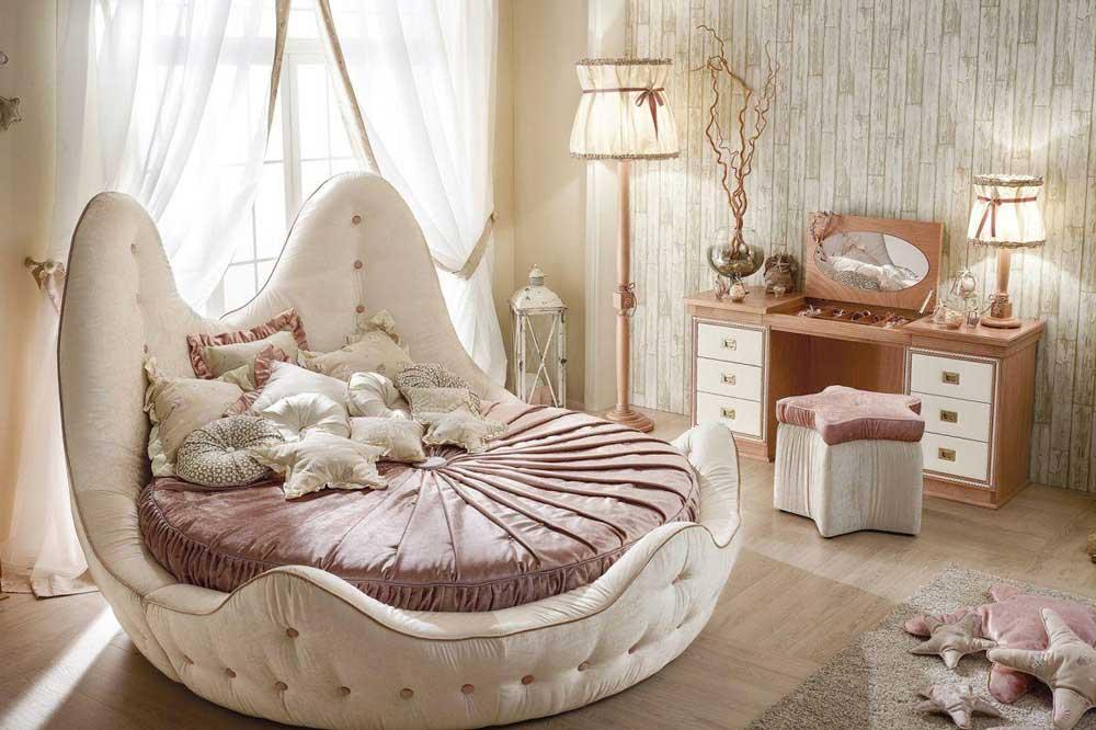 سبک تخت دو نفره گرد هماهنگ با سبک خانه شما