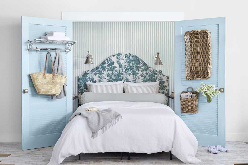 رنگ ملایم در اتاق خواب ساده