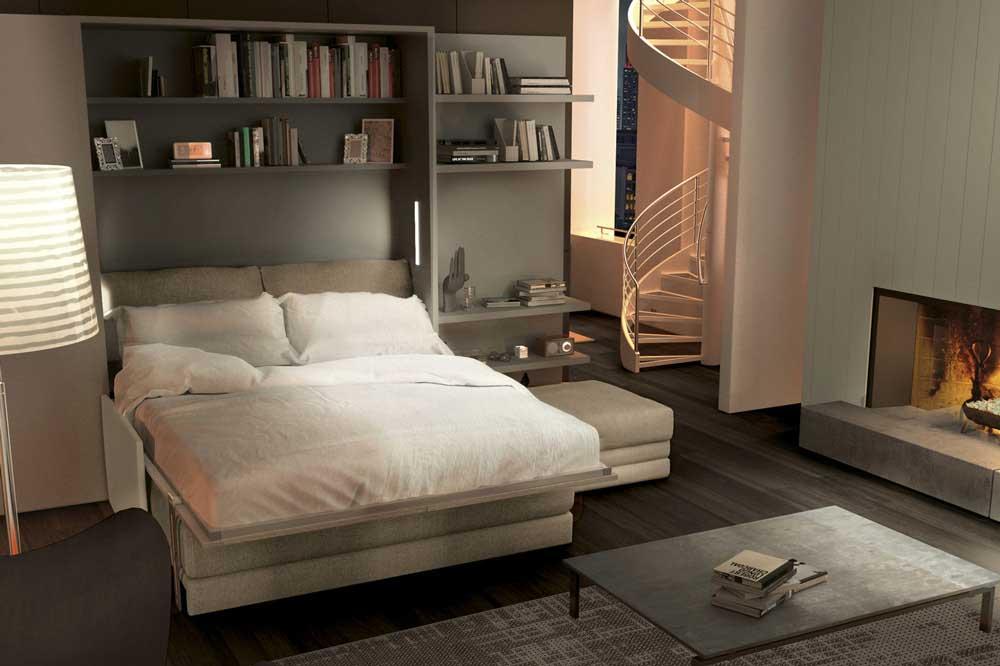 تخت تاشو دو نفره، هماهنگ با فضای خانه