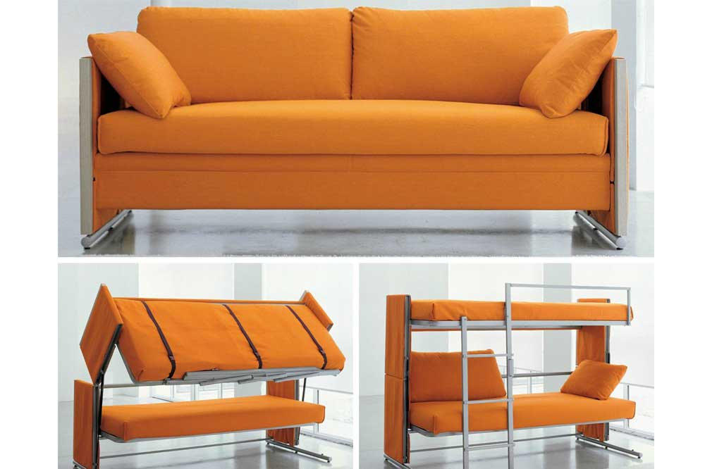 کاناپه تخت شو و تخت های دو طبقه