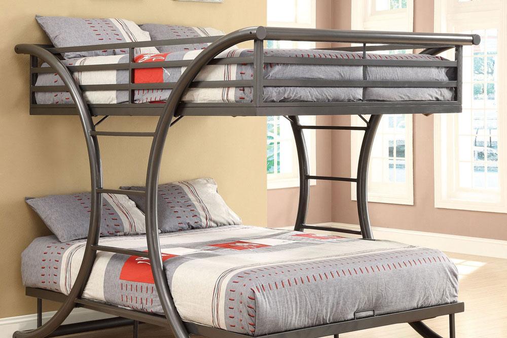 مدل دیگری از تخت خواب دو طبقه فلزی با طراحی فانتزی تر