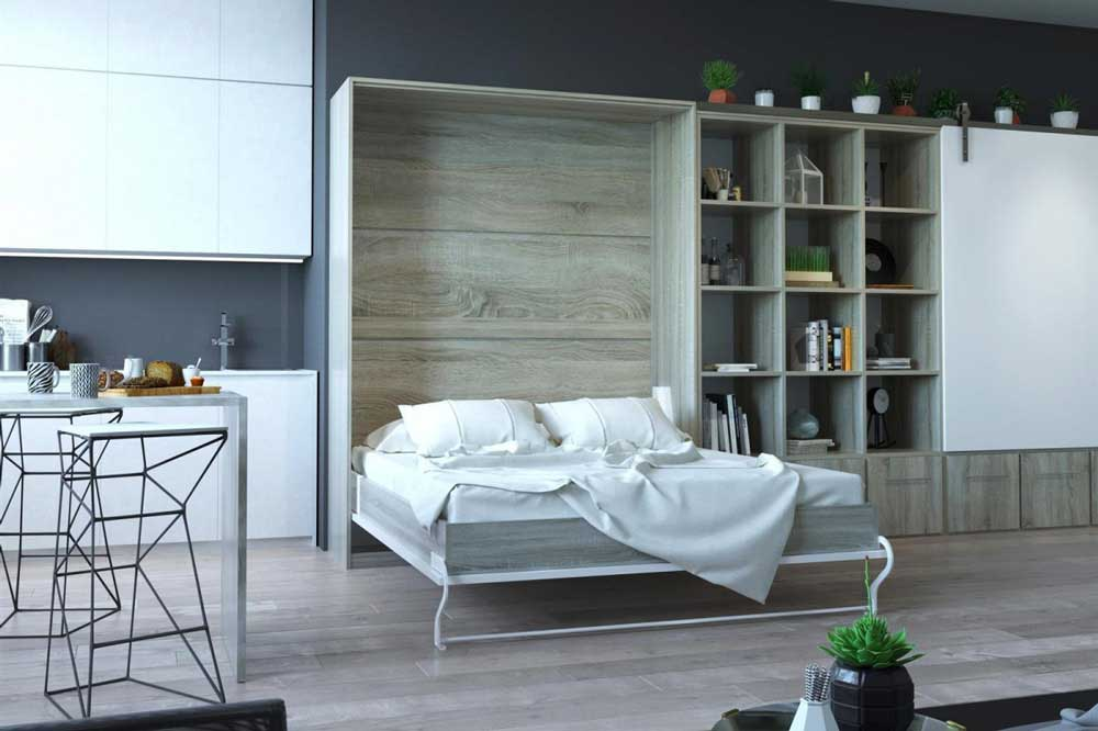 تخت خواب دو نفره تاشو در هر جای خانه
