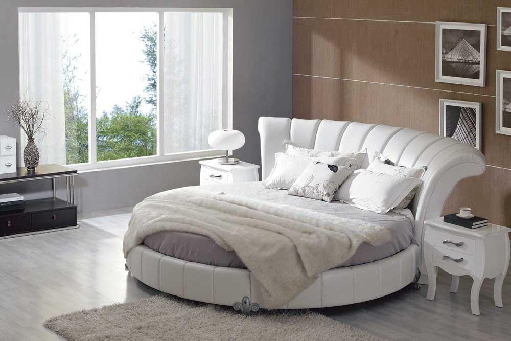 انتخاب یک اتاق خواب بزرگ و مناسب برای خرید یک تخت گرد و زیبا