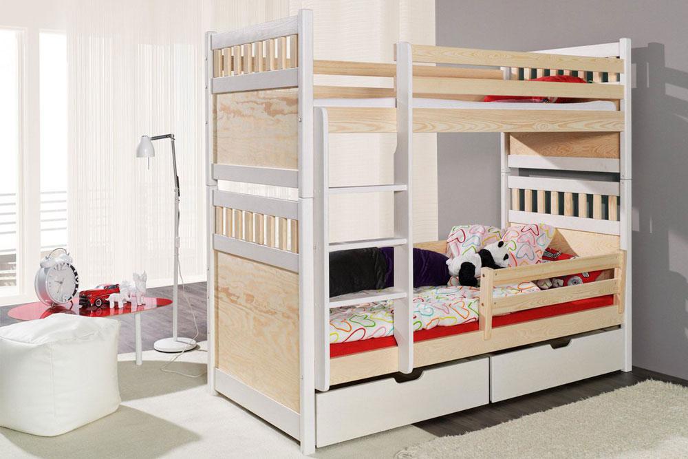 تخت خواب دو طبقه دو رنگ