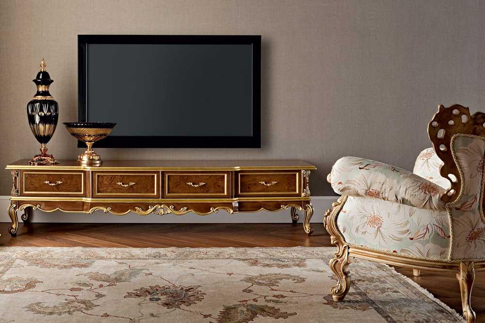 مدل میز تلویزیون چوبی سلطنتی