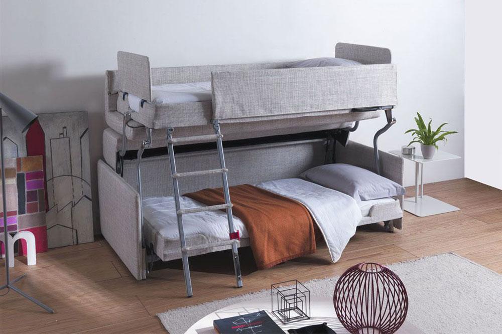 تخت خواب دو طبقه تاشو