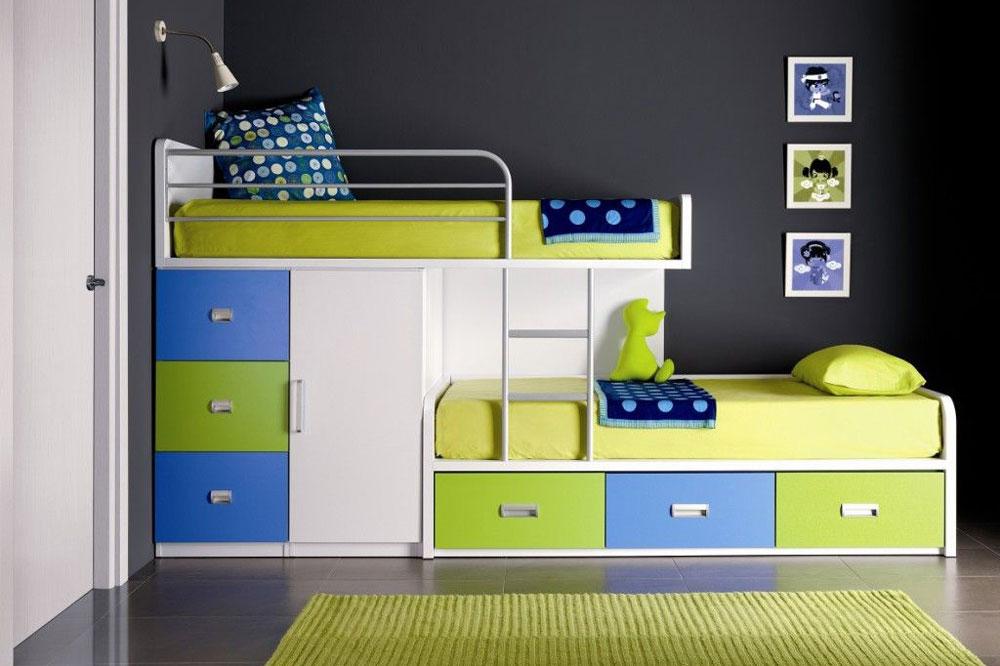 تخت دو طبقه خلاقانه و جادار