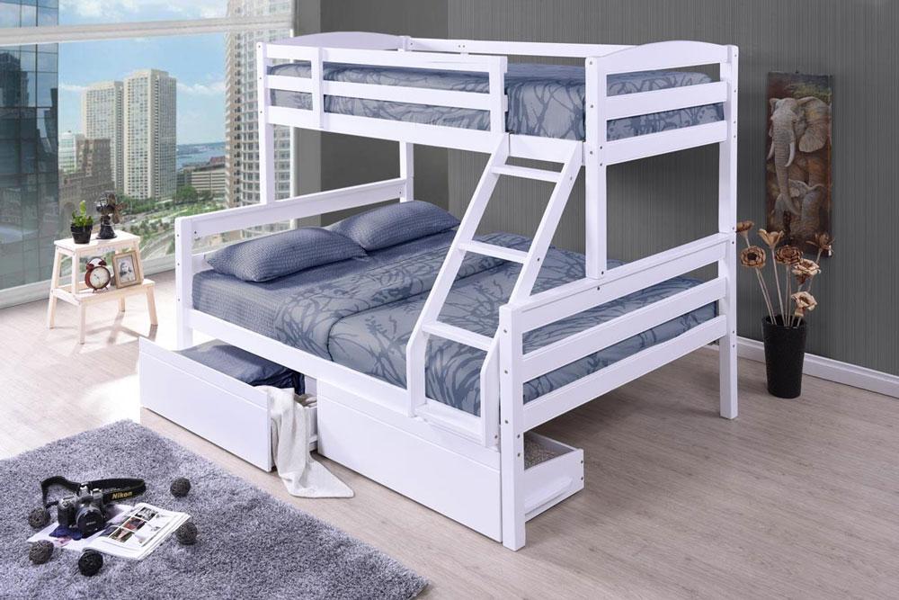 تخت خواب دو طبقه سه نفری!