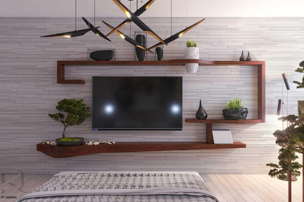 میز تلویزیون دیواری جدید و خلاقانه