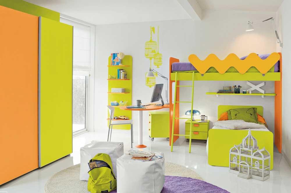 رنگ تخت و کمد کودک