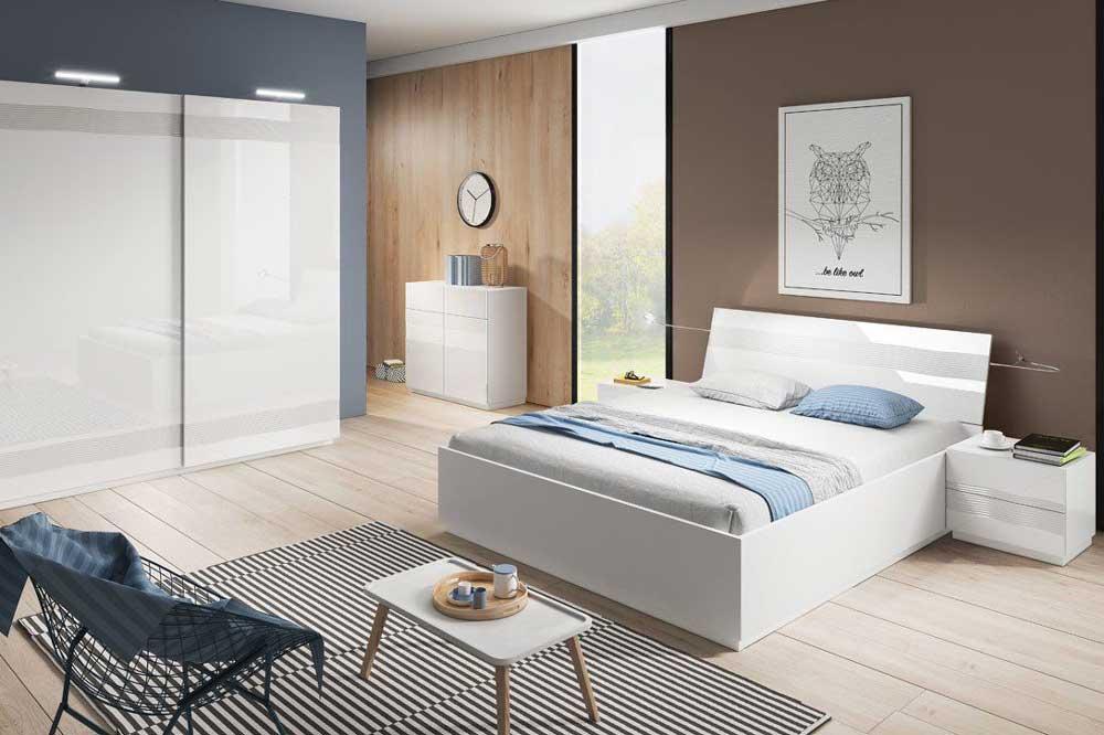 تخت خواب سفید هایگلاس