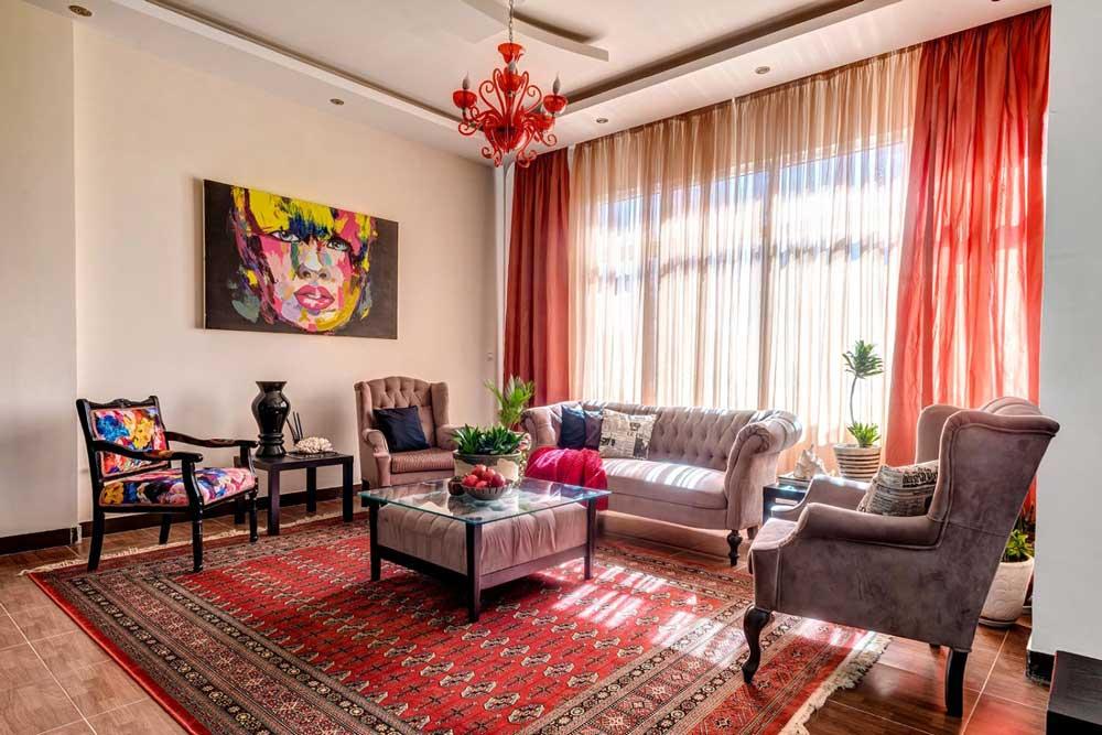 پذیرایی در طراحی داخلی منزل ایرانی