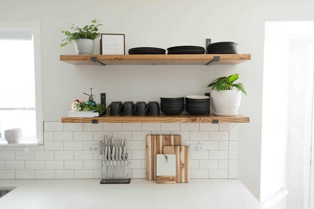 ایده های خلاقانه برای دکوراسیون منزل : شلف دیواری آشپزخانه