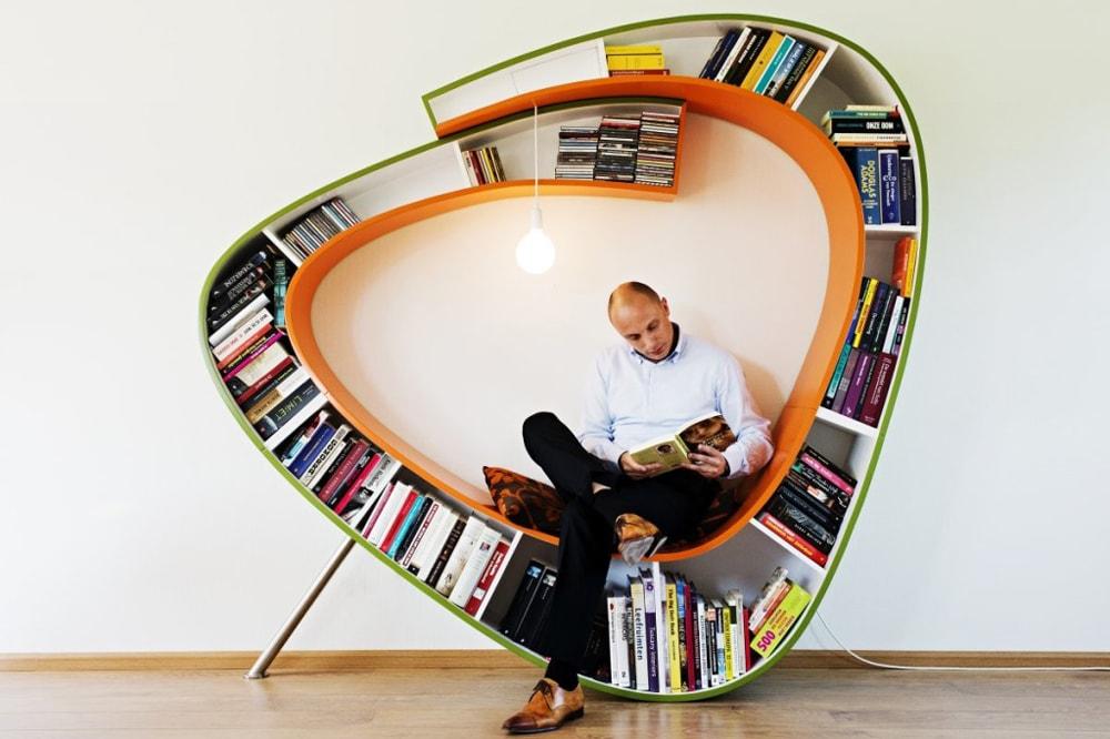 ایده های خلاقانه برای دکوراسیون منزل : کتابخانه