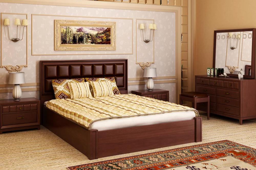 تخت خواب عروس و داماد : کلاسیک چوبی
