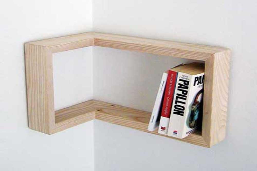 کتابخانه دیواری کوچک: مناسب برای گوشه دیوار