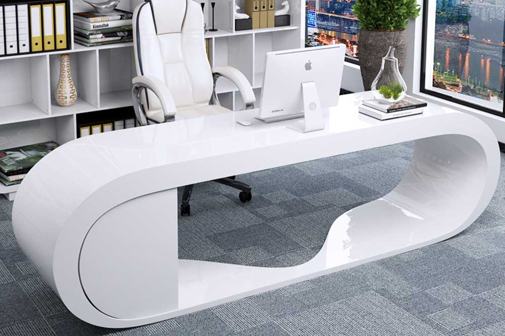 میز مدیریت ام دی اف سفید