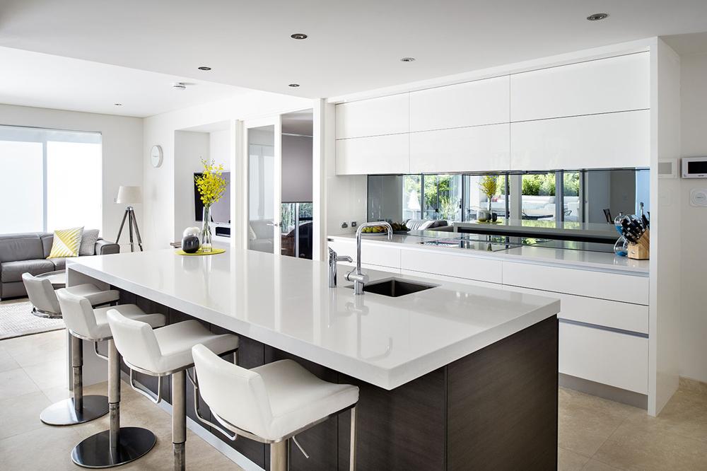 کابینت آشپزخانه مدرن: هایگلاس