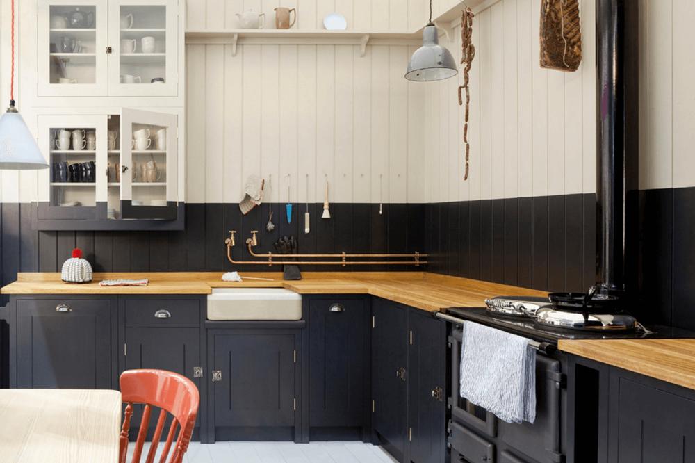 کابینت آشپزخانه مدرن: مشکی