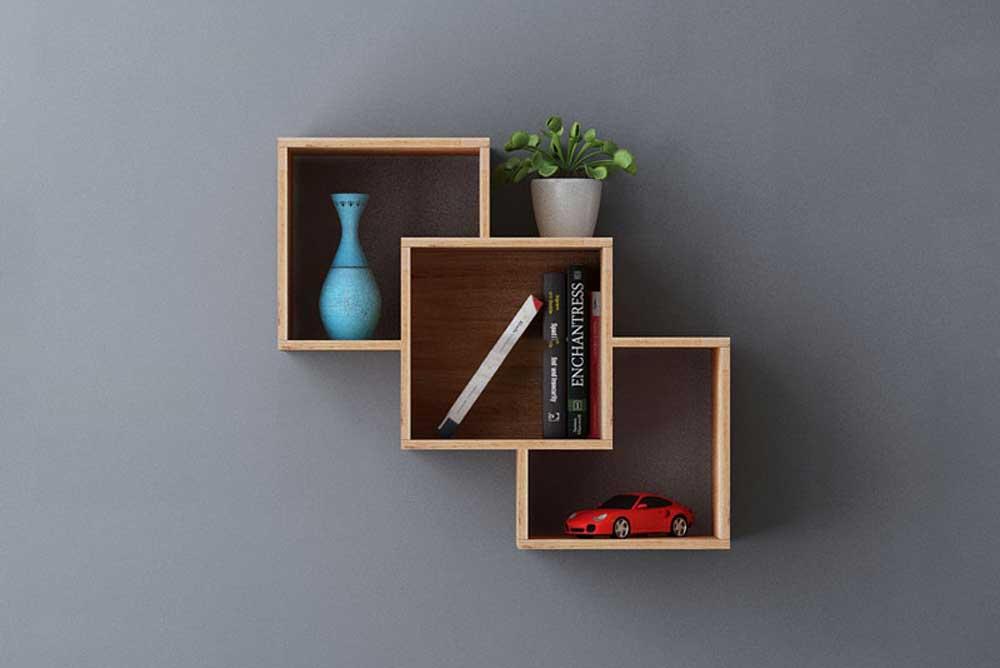 کتابخانه دیواری کوچک: باکس ها تو در تو