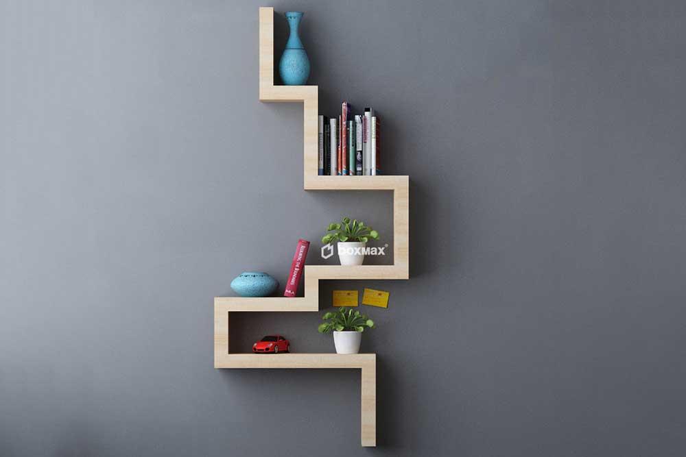 کتابخانه دیواری کوچک: مارپیچی