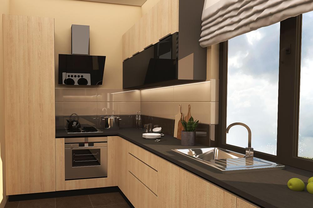کابینت آشپزخانه مدرن: ام دی اف