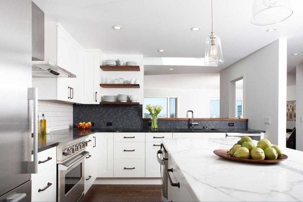 کابینت آشپزخانه مدرن: ترکیب چند سبک