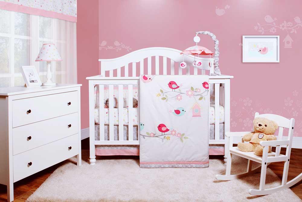 سرویس خواب نوزاد دختر سفید