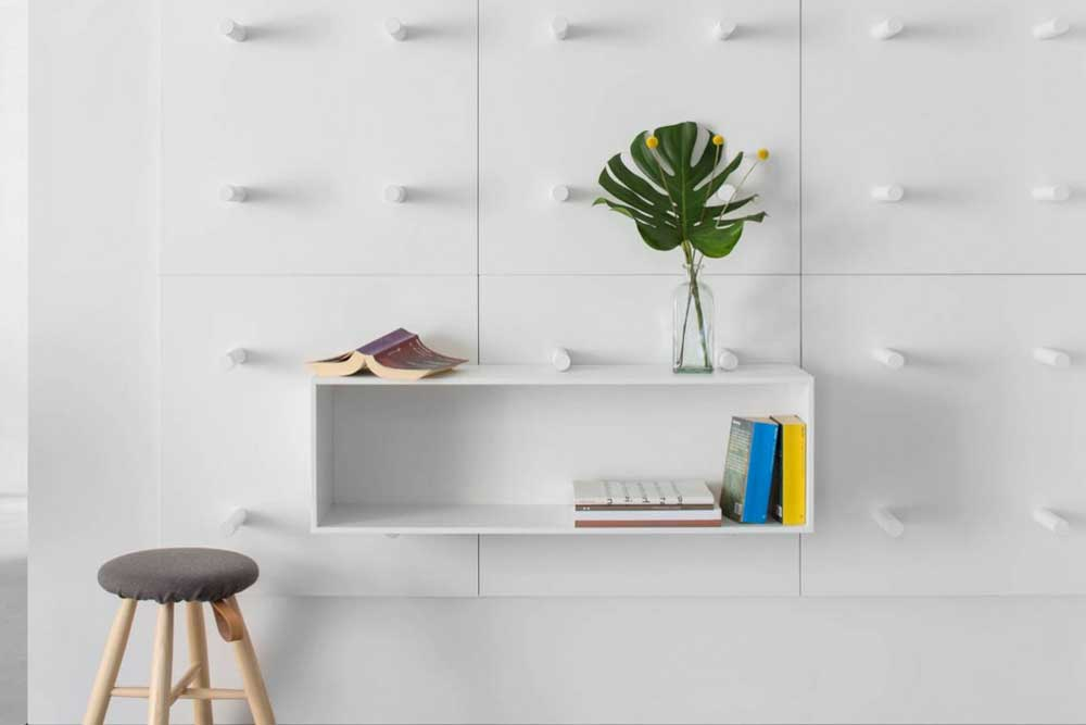 کتابخانه دیواری کوچک: باکس دیواری